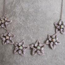 Magnifique Collier en Argent 925 avec Opale d'Ethiopie - Style Joaillerie