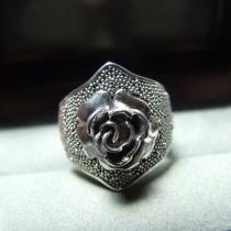 Bague Rose argent 925  T.54 faite main